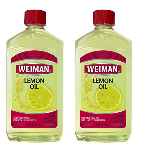 Weiman Lemon Oil Wood Polish (2 Pack) 16 Ounce - Ultra Violet Protection, Gently Cleans, Protects, Moisturizes, Restores and Conditions Wood
