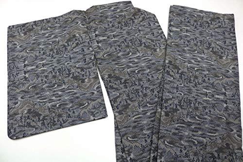 9月8日号. 正絹 大島紬 着物 身丈160cm/裄丈63cm(約寸法) リメイク用 着用を想定したではありません 表地は比較的良好