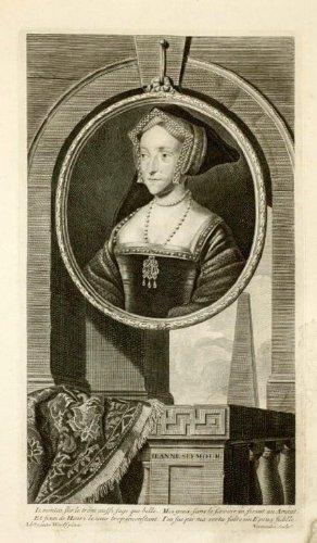 Antique Print-Portrait-Jane Seymour- Queen-England-1720
