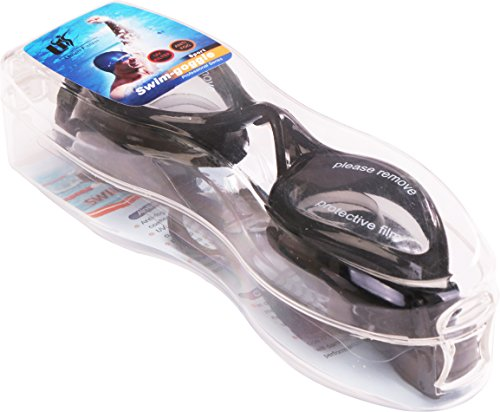 Swimming Goggles – Adjustable Size – No Leaking – Crystal Clear Vision - Anti-Fog – UV Protection - Includes Protection Case - Soft & Comfortable – by Utopia Fitness (Goggles Swimmers)
