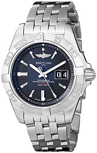 (Breitling Men's A49350L2/BA07 Galactic 41 Black Dial Watch )