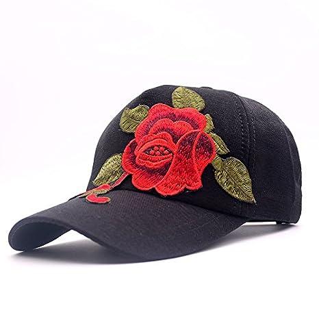 ALWLJ new trendy luxury women girl beauty baseball cap big rose floral  design hip hop snapback 4bb72dd129e