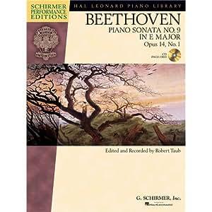 Ludwig Van Beethoven: Piano Sonata No.9 In E Op.14 No.1 (Schirmer Performance Edition) - Partituras, CD