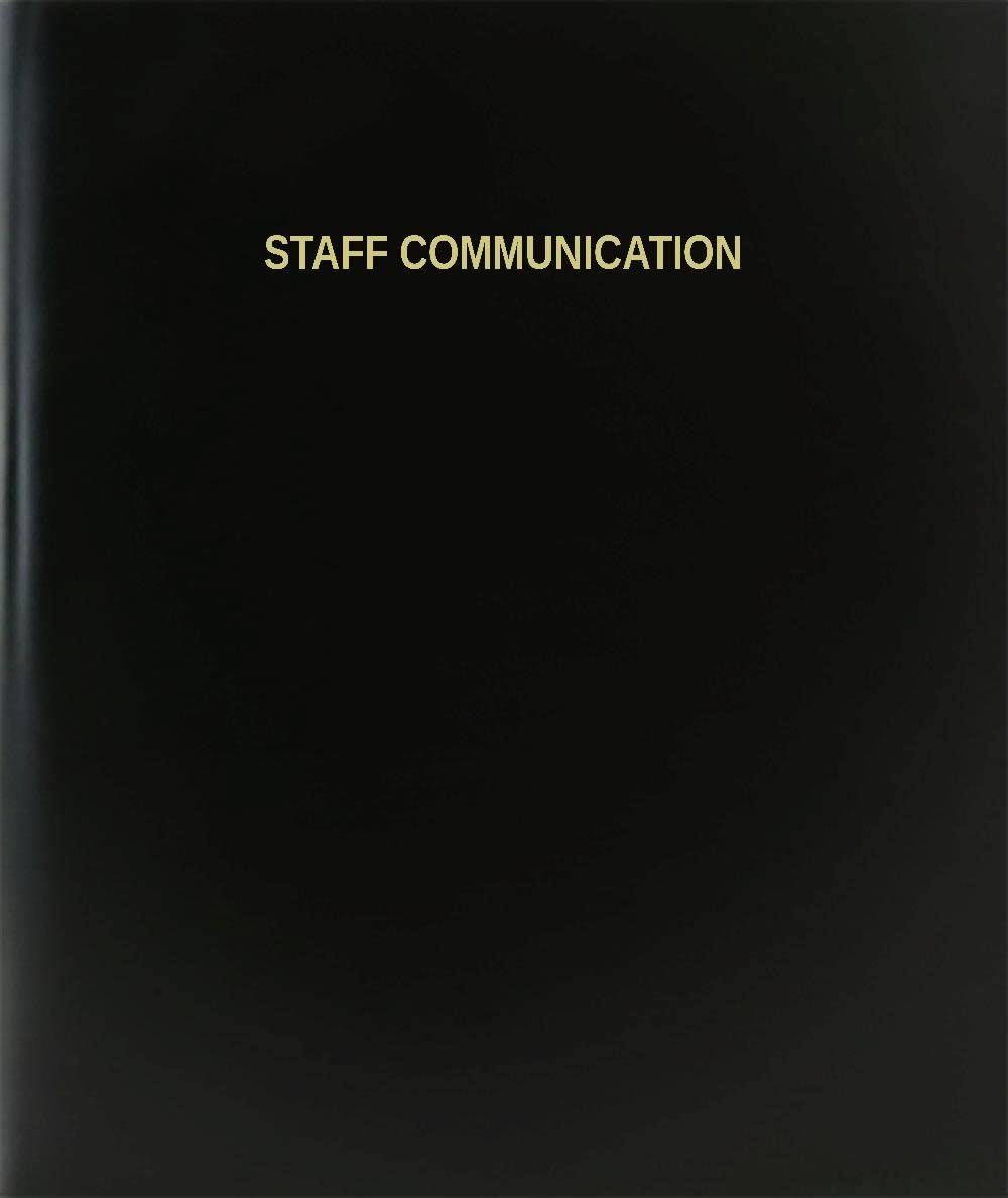 "BookFactory Staff Communication Log Book/Journal/Logbook - 120 Page, 8.5""x11"", Black Hardbound (XLog-120-7CS-A-L-Black(Staff Communication Log Book))"