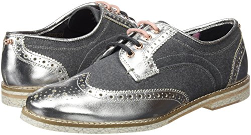 Baker Ted Shoes Blk Women's up Silver silver Lace Anoihe TPdgPw