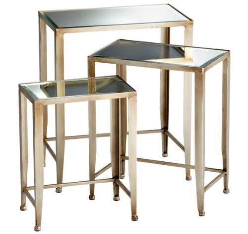 Cyan Designs 05475 Harrow Nesting Tables Ideal Gift for Wedding, Floral / Floor Vase, Party, Home Decor, Office, Spa