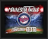 "Minnesota Twins 10.5"" x 13"" Sublimated Horizontal Team Logo Plaque - MLB Team Plaques and Collages"