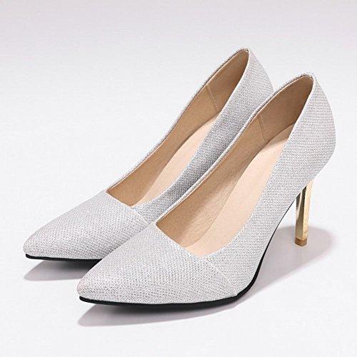 à Hauts Talons Femme Shoes Mee Stiletto Argent Chaussures Dance qxSXF