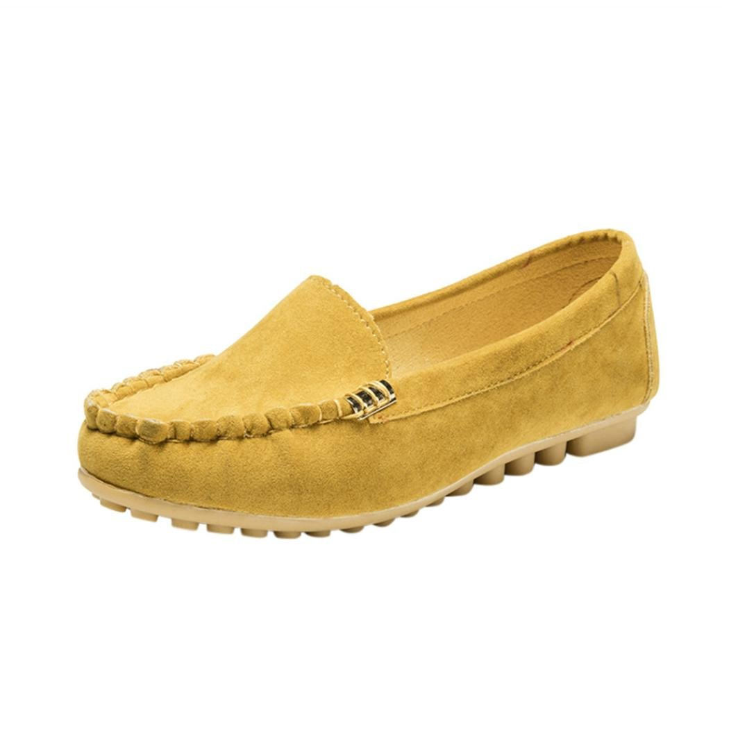 OverDose Femme Chaussures Plats Daim, Daim, Femme Mocassins Soft Pointure Large Ballerines Casual Soft Slip-on Shoes Jaune fe9fd87 - automaticcouplings.space