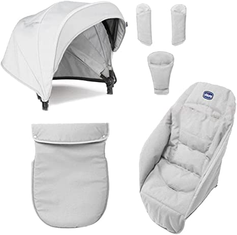 Chicco Color Pack Special Edition - Kit de accessorios para silla de paseo, color carbón: Amazon.es: Bebé