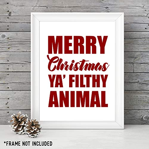 Merry Christmas Ya Filthy Animal - Holiday Decor - Home Alone Movie - Unframed 11x14 Art Print