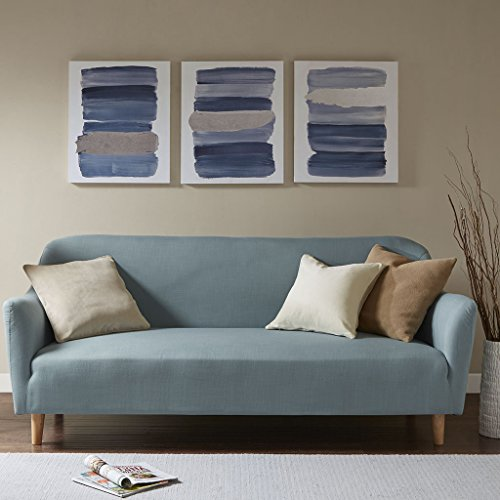 Printed Canvas with Sliver Foil 3 Piece Set See below/Navy