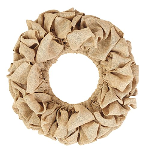 Burlap Natural Wreath 20