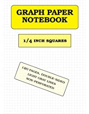 Graph Paper Notebook: 1/4 inch squares (120 pages)