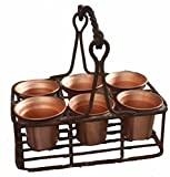 Egypt gift shops Copper Cups Jars Kitchen Wrought Iron Holder