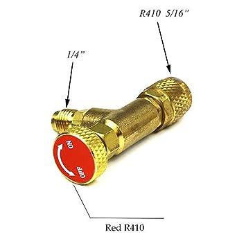 """VIGORFLYRUN PARTS LTD 1pcs R410A Adaptador de Válvula Refrigerante de Aire Acondicionado 1/4"""""""