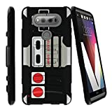 MINITURTLE Case Compatible w/ LG V20 Case   V20 Case Shell [Clip Armor] Premium Defender Case Hard Shell Silicone Interior w/ Stand and Holster Game Controller Retro Review