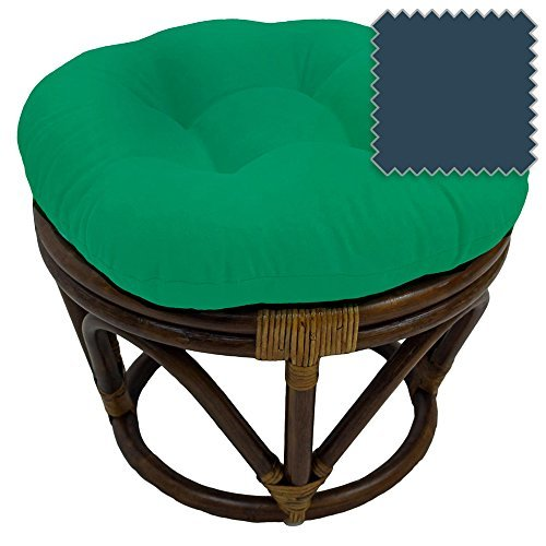 International Caravan Bali Rattan Papasan Footstool Ottoman - (Wood Frame Footstool)