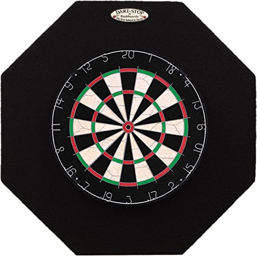 Dart-Stop 29 inch Black Octagon Pro Dart Board Backboard | Wall Protector | Dartboard Surround ()