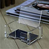 10 Pack Transparent Acrylic Business Card Stand Holder Name Card Case