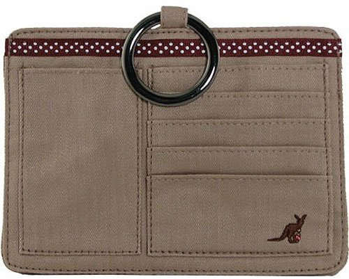 Cotton Pouchee Purse Organizer-Khaki Cotton