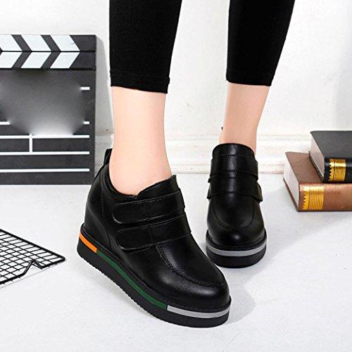 Zarupeng Frauen-Klett-Boots Plus Kaschmir-Winter-Starke Flache Knöchel-Schuhe Schwarz