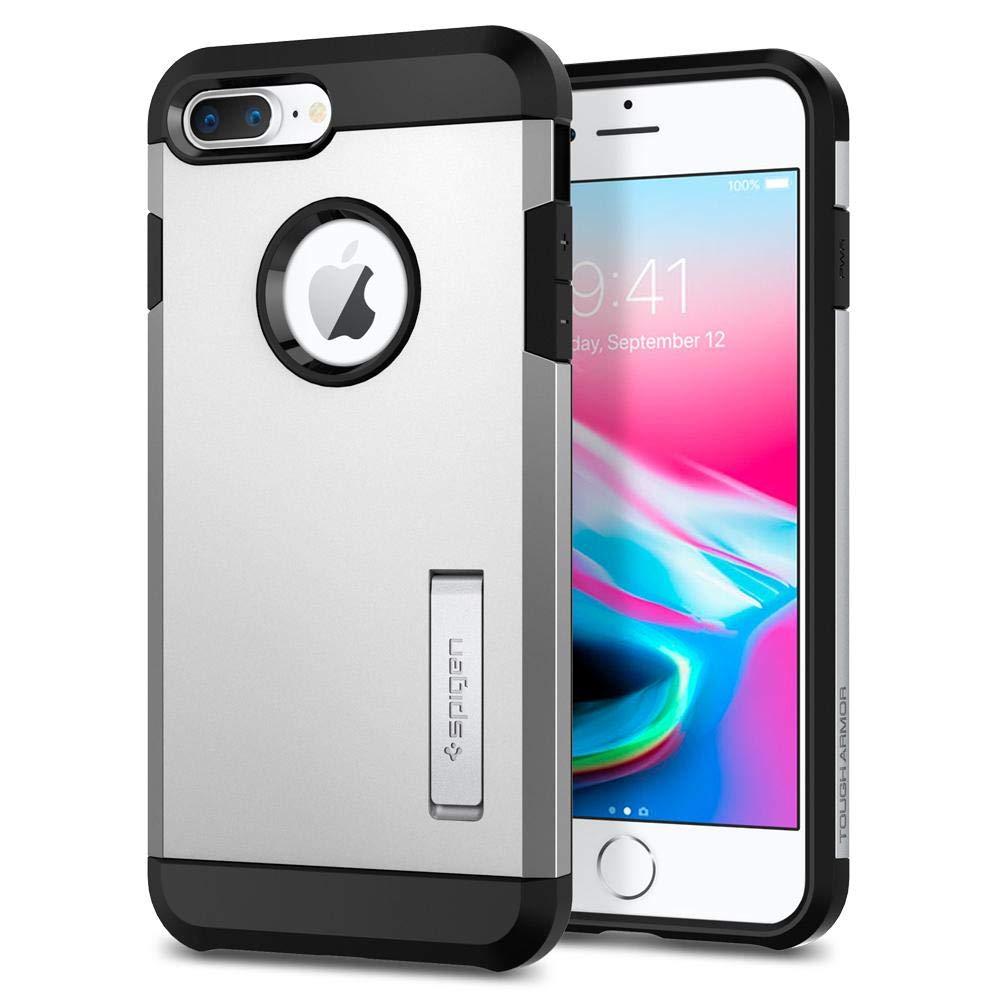 Spigen Tough Armor [2nd Generation] iPhone 8 Plus Case/iPhone 7 Plus Case with Kickstand Air Cushion Technology for Apple iPhone 8 Plus (2017) / iPhone 7 Plus (2016) - Black 055CS22246