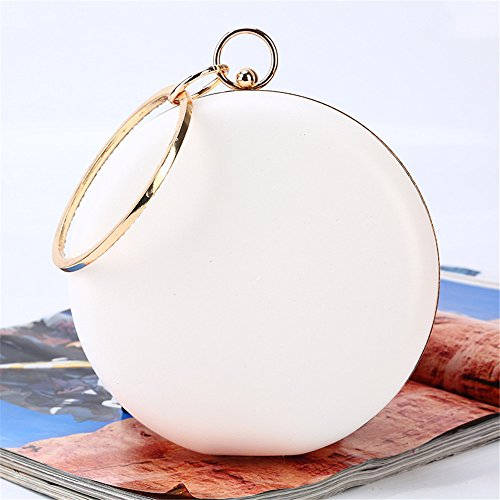 Capacity Bags Large Handbags Wallet Circular Wedding Clutch Party Color Evening Flower Vintage Purse White Women White Rabbit Lovely qE7Ht0n