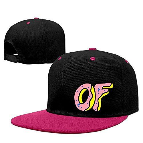GLK300 Unisex Odd Future Logo Unisex Fashion Cool Snapback Hip-hop Caps Sun-hats Adjustalbe 17-23 Inches Pink