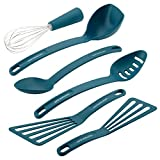 Rachael Ray 46409 6 Piece Nylon Nonstick Tools Set, One Size, Marine Blue