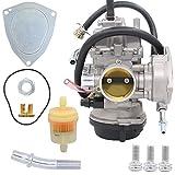 #2: Carburetor for Kawasaki KFX400 KF-X 400 03-06 Suzuki Lt-Z400 04-08 Arctic Cat 400 DVX Yamaha Raptor 350 YFM350 ATV Quad 13200-07G30 13200-07G40 13200-07G50 13200-07G01 13200-07G11 13200-07G20 Carb