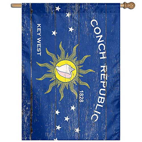 Conch Republic Key West City Florida State Flag Welcome Garden Flag Yard Flag Family Flag ()
