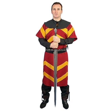 Carassa Traje medieval hombre Gilbert Color Granate Talla XL ...
