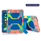 ACEGUARDER New iPad 9.7 2018 2017 Case [Impact Resistant] [Shockproof] [Heavy Duty] Full Body Rugged Protective Smart Cover with Kickstand & Dual Layer Design for Apple New iPad 9.7 inch (Ice/Blue)