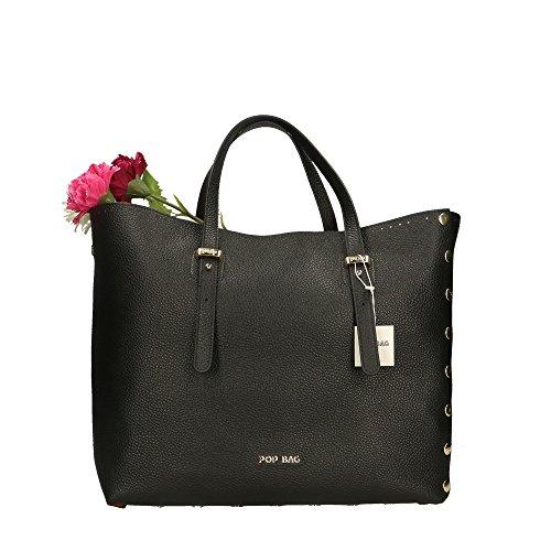 cuir en Impression main véritable Cm POP in Sac femme Noir 34x31x15 Bags Dollar Made à Italy nWW7Y1x