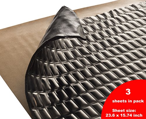 Siless 80 mil 7.5 SqFt Sound Deadening mat Silver Black - Sound Deadener Mat - Car Sound Dampening Material - Sound dampener - Sound deadening Material Sound Insulation - Car Sound deadening Door by Siless