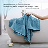 WISELECT Luxury Turkish Cotton Bath Towels, Large - 28 X 56 Inch, 650GSM, Ring-Spun Cotton, for Family Hotel Spa Gym | Soft Thick Fast-Drying