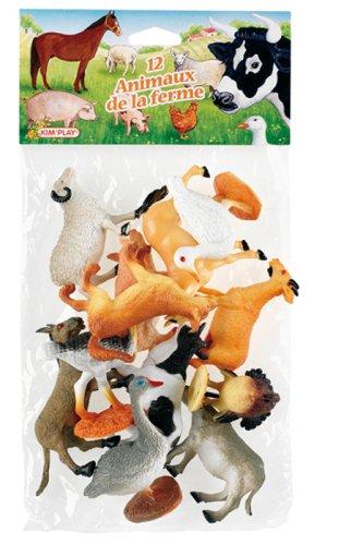 5 opinioni per Cofalu Kim'Play- Pupazzetti degli animali della fattoria, 12 pz.