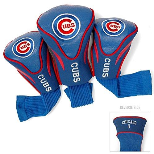 Chicago Cubs Golf Club 3 Piece Contour Headcover Set
