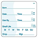 DayMark Item/Date/Use By/Shelf Life Dissolvable Label, 2'' x 2'' (Roll of 250)