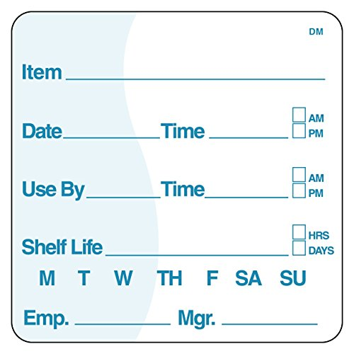 - DayMark Item/Date/Use By/Shelf Life Dissolvable Label, 2