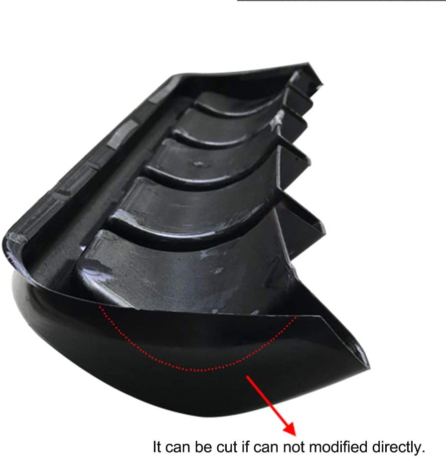 RONSHIN 67cm Universal Car Lower Rear Body ABS Bumper Diffuser Shark Fin Kit Spoiler Carbon Fiber #A