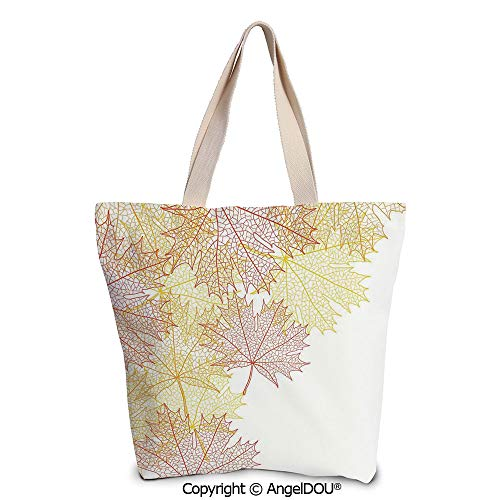 SCOXIXI Leaves printed Tote Schoolgirl Bag Ladies Shopper Canvas Bags Pattern w]()