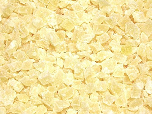 Natural Dried Pineapple Dices-Low Sugar, No Sulfur, (2 lb Natural Dices) ()
