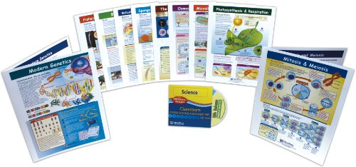 NewPath Learning 10 Piece Mastering Middle School Life Science Visual Learning Guides Set, Grade 5-9 ()