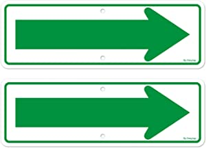 Left Right Arrow Signs, Enter Only Arrow Sign, 2 Pack 18 x 6 Inches Reflective Rust Free Aluminum, UV Protected, for Street Road