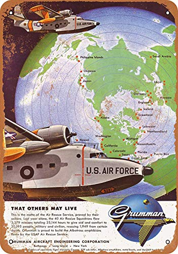 USAFエアレスキュー 金属板ブリキ看板注意サイン情報サイン金属安全サイン警告サイン表示パネル