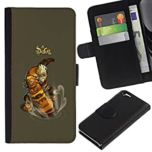 KLONGSHOP // Tirón de la caja Cartera de cuero con ranuras para tarjetas - Dofus - Apple Iphone 6 //
