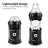 Kinrui Solar Power 3Modes Rechargeable LED Flashlight Camping Tent Light (Black)