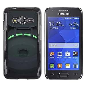 Caucho caso de Shell duro de la cubierta de accesorios de protección BY RAYDREAMMM - Samsung Galaxy Ace 4 G313 SM-G313F - Toilet Green Neon Light Bowl